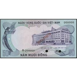 Viet Nam-South. National Bank of VN Trial Color S