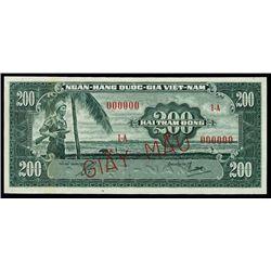 Vietnam-South. National Bank of Vietnam Specimen