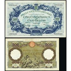Worldwide. Assortment of Banknotes.