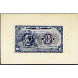 Yugoslavia. Nat. Bank, Kingdom of Serbs, Croats &