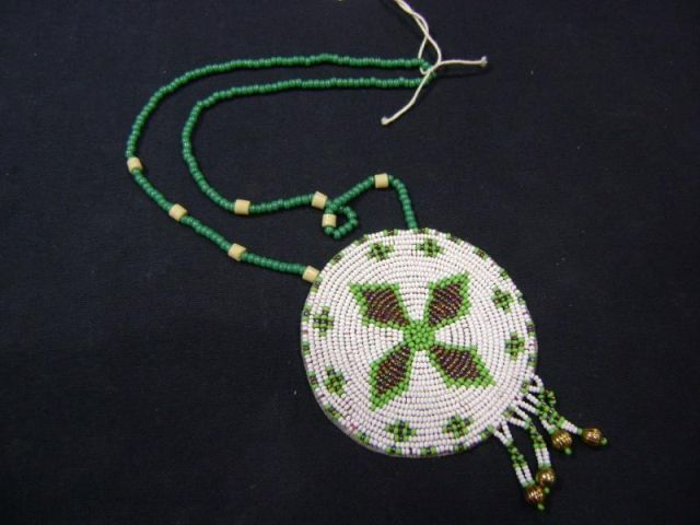 CUSTOM HAND MADE INDIAN BEADED DANCE NECKLACE WITH 3 5