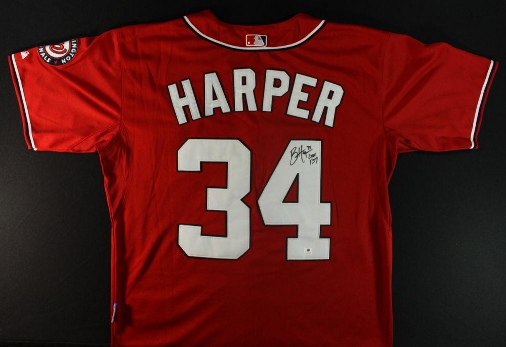 Bryce Harper Signed Nationals Jersey (GA COA)