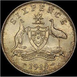 1914 Sixpence
