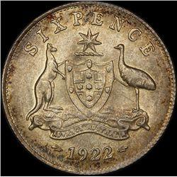 1922 Sixpence