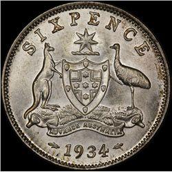 1934 Sixpence