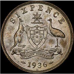1936 Sixpence