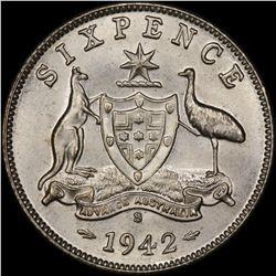 1942 S Sixpence