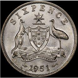 1951 Sixpence
