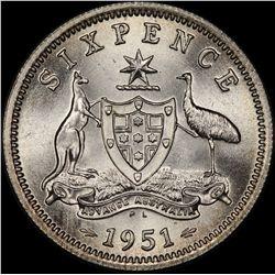 1951 PL Sixpence