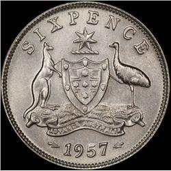 1957 Sixpence