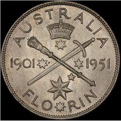 1951 Federation Florin