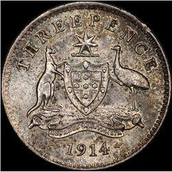 1914 Threepence