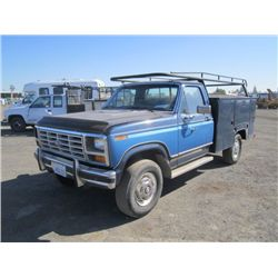 1984 Ford F250 4x4 Utility Pickup Truck