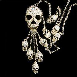Swarovski Crystal Skull Pendant Necklace  mwf2044