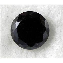 7.0 ct Natural Zircon Gemstone Round Shaped Black