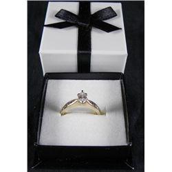 Vintage Marquis Cut 14K Yellow Gold Diamond Ring