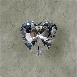 6.0 ct Natural Zircon Gemstone Heart Shaped White