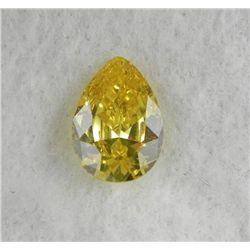 9.5 ct Natural Zircon Gemstone, Pear Shaped Yellow