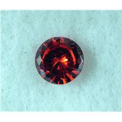 6.0 ct Natural Zircon Gemstone, Round Shaped Red