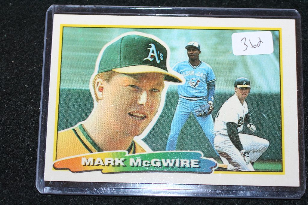 1988 Mlb Topps Mark Mcgwire Oakland As Baseball Trading Card
