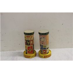 2 OLD PARIS FRANCE CANDY CONTAINERS - CARDBOARD & PLASTIC