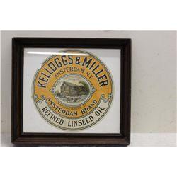 FRAMED KELLOGGS & MILLER SIGN