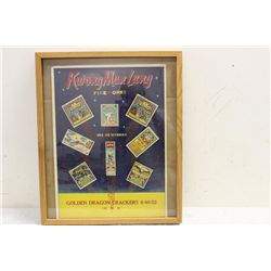 "GOLDEN DRAGON CRACKERS FIREWORKS ADVERTISING - 23.5"" X 19"""