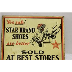 STAR BRAND SHOES ADVERTISING SIGN
