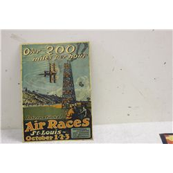 "TERRIFIC ADVERTISING - GREAT COLOR ON TIN - ARTIST SIGNED - 17"" X 12"""