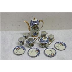 HAND PAINTED JAPAN TEA SERVICE FOR 4 - MINT
