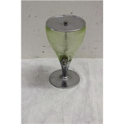 GLASS & CHROME JUICE DISPENSER IN MINT COND. - DECO STYLE