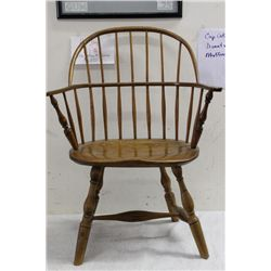 EARLY WINDSOR CHAIR - HICKORY & BUTTERNUT - EXC COND.