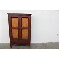 EARLY JELLY CUPBOARD W/ 1 DRAWER & 2 DOORS -