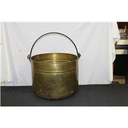 "LARGE BRASS HANGING POT - 14"" HIGH - 18"" WIDE"