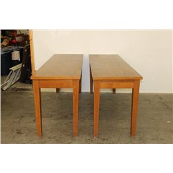 SET OF 2 EXC. OAK DISPLAY TABLES