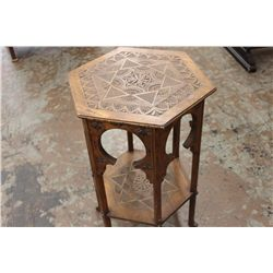 """DENTAIL CARVED 2 TIER STAND - REAL NEAT - 28.5"""" X 19"""""""