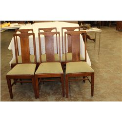 SET OF 6 OAK CHAIRS - SOLD AS 1 LOT