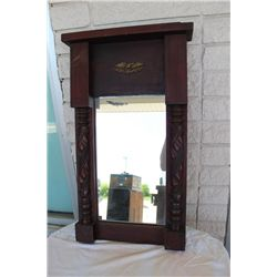 FEDERAL STYLE EARLY MIRROR IN MAHOGANY