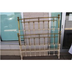 FULL SIZE BRASS & IRON BED COMPLETE W/ RAILS