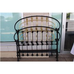 COMPLETE FULL SIZE BRASS & IRON BED - VERY ORNATE & HEAVY