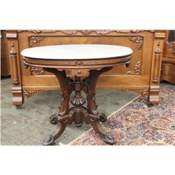 VICTORIAN WALNUT MARBLE TOP - GREAT BASE