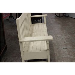 "NICE OAK MISSION BENCH PAINTED - 78"" X 38"" X 19.5"""