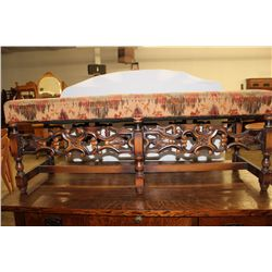 "WILLIAM & MARY TYPE BENCH - 47"" LONG X 17.5"" TALL"