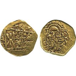 Bogota, Colombia, cob 1 escudo, Charles II posthumous, no assayer (Arce).
