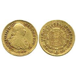 Lima, Peru, bust 1 escudo, Charles IV, 1800IJ.