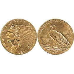 USA (Denver mint), $2-1/2 Indian (quarter eagle), 1925-D.