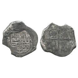 Mexico City, Mexico, cob 4 reales, (16)22D, rare.