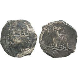 Potosi, Bolivia, cob 8 reales, 1670E.
