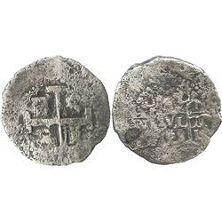 Lima, Peru, cob 8 reales, 1728N.