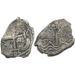 Potosi, Bolivia, cob 8 reales, 1725Y, (Louis I).